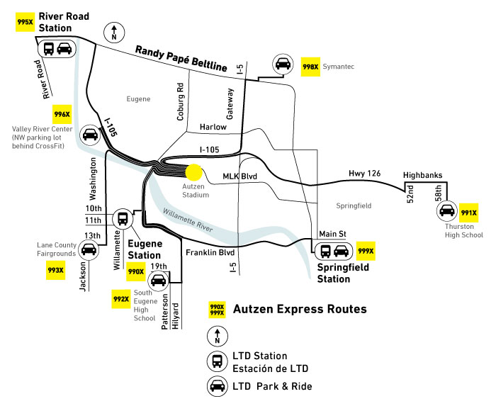 LTD Park and Ride for the Autzen Express