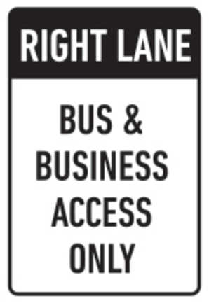 Bus-and-Business-Access-Only-Sign