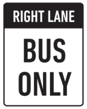 Bus-Only-Sign