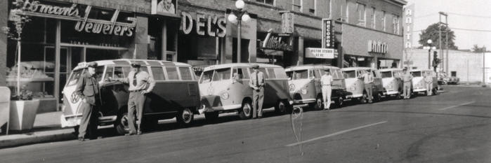 early vw buses on willamette