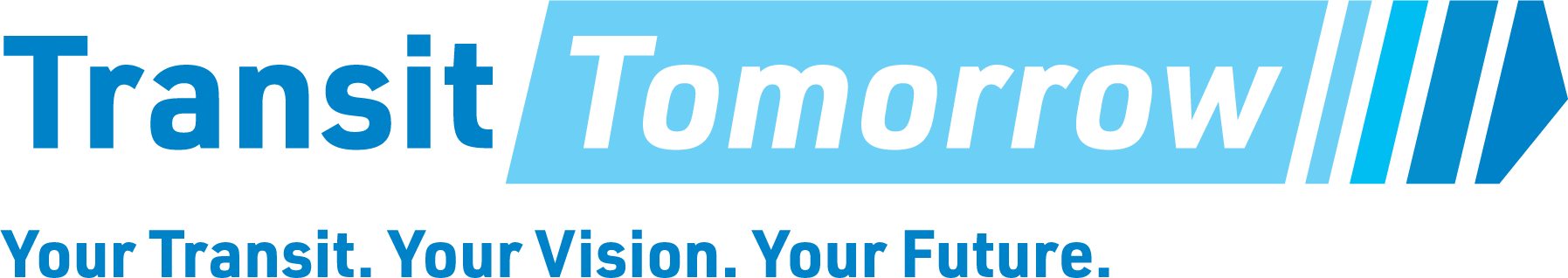 Transit Tomorrow Logo with Headline